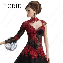 Black Red Gothic Wedding Dresses