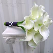 Calla Lily Wedding Bouquet White Real Touch Bridal Bouquet