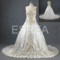 Gold And White Wedding Dresses Browse Pictures And High Quality