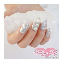 Japanese Hand Laid Lace Embrace Wedding Nail Art