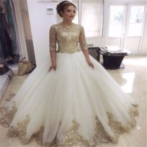 Popular Gold Wedding Dresses
