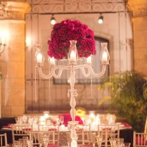 The Centerpieces Were Full Of Black Magic Roses In Vintage Style