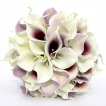 Wedding Bouquet Purple Calla Lily Wedding Bouquet, Real To Touch