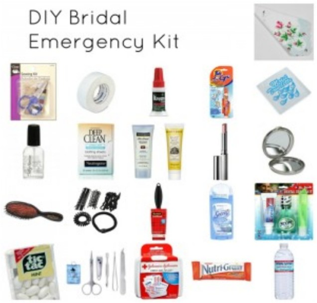 Wedding Day Emergency Kit For Brides