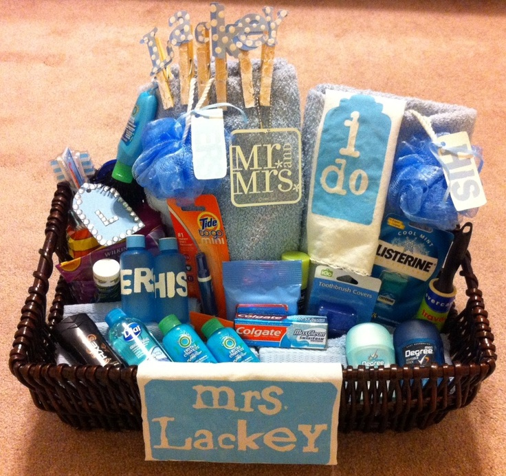 Gift Basket For Bride And Groom Wedding Night: Wedding Night Gift Basket