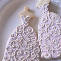 10 Bridal Gown Cookies