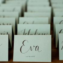 10 Handwritten Calligraphy Wedding Place Cards, Escort Cards For