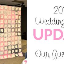 2012 Wedding Event Update Our Guest Quilt Finished!