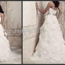 2013 Sweetheart Organza A Line Ruffles Wedding Dresses Accent