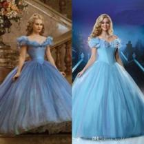 2015 Newest Cinderella Wedding Gown Movie Ball Gown Tulle Off