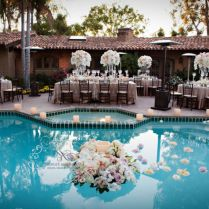20 Beautiful Swimming Pools Decked Out For A Wedding