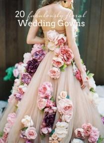 20 Floral & Flower Wedding Dresses