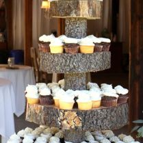 25 Amazing Rustic Wedding Cupcakes & Stands