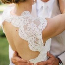 41 Charming Keyhole Back Wedding Dresses
