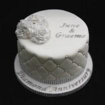 60th Diamond Wedding Anniversary Cake