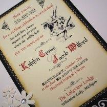 Alice In Wonderland Wedding Invitation By Debbiecrowedesigns