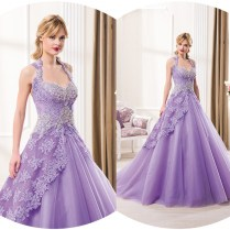 Aliexpress Com Buy Elegant Purple Color Ball Gown Wedding