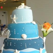 Beach Theme Wedding Cake Photos