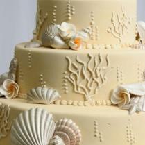 Beach Wedding Cake Ideas ♥ Wedding Cake With Edible Sugar Sea