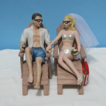 Beach Wedding Cake Toppers By Magical Day