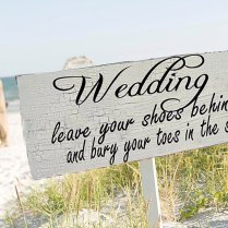 Beach Wedding Signs Wedding Decorations Arrow 24x8 By Familyattic