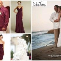Beach Wedding Style Burgundy Wine Attire Ideas