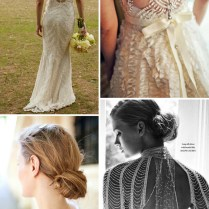 Beaded Back Wedding Dresses