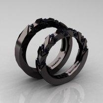 Beautiful Black Gold Wedding Rings Weddingfia