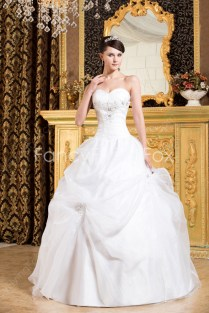 Beautiful Sweetheart Neckline Ball Gown Floor Length Wedding