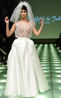 Berlin Fashion Week Models Take To Catwalk In See Through Wedding