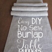 Bespangled Jewelry Diy No Sew Burlap Table Runners Diy Wedding