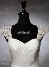 Best 2015 Romantic Exquisite Beaded Bridal Wraps Detachable Cap