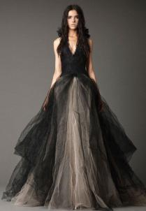 Black And Gray Wedding Dresses