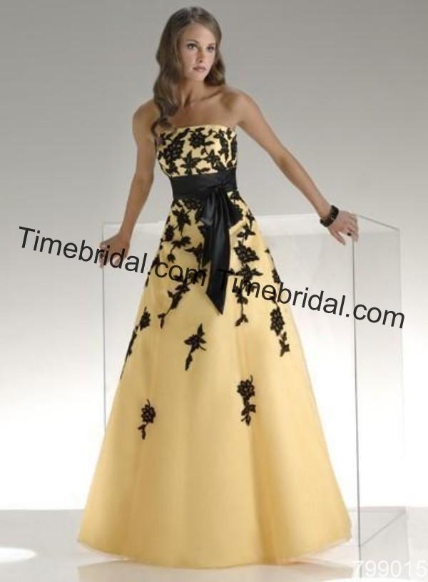 Black and Yellow Wedding Dresses