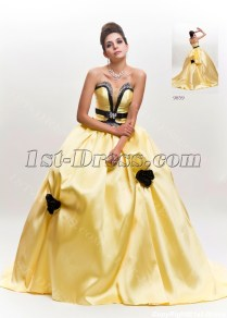Black And Yellow Wedding Dresses On Wedding Dresses With Black