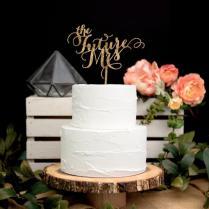 Bridal Shower Cake Topper In Glitter