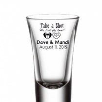 Bride And Groom Shot Glasses Personalized