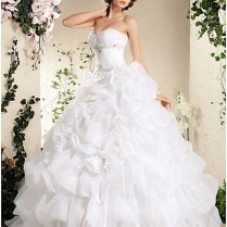 Buy Ruffles Sweetheart Organza Wedding Gowns From Weddingdressus Com
