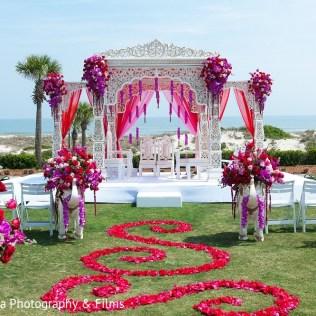 Ceremony Decor In Amelia Island, Fl Indian Fusion Destination