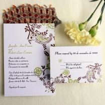 Cheap Wedding Invitations Free Response Card & Printed Envelops @ V P