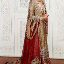 Cream And Gold Asian Wedding Dress
