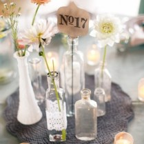 Creative 2014 Beach Wedding Table Candle Decorations