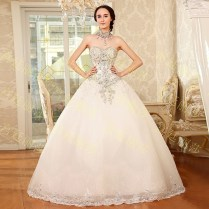 Cute Dresses For Weddings 652014 New Luxurious Crystal Strapless
