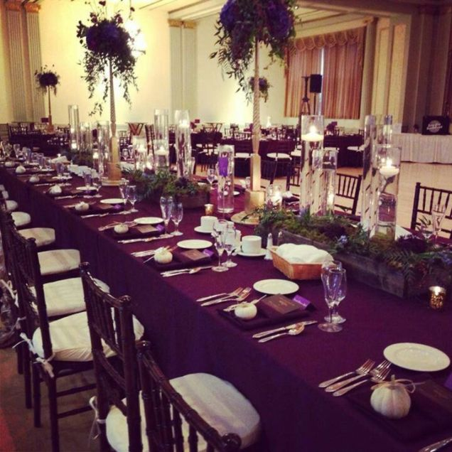 Eggplant Wedding Decorations On Decorations With Simply Enchanting