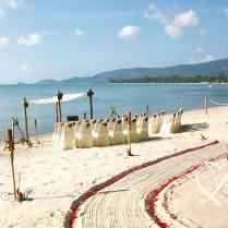 Faraway Green Beach Wedding
