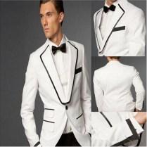 Fashion Men's Suit Man's To The Bride's White Wedding Suit Best