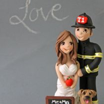 Firefighter Wedding Cake Topper On Wedding Cakes With Firefighter