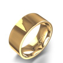 Flat 8mm Wedding Band In 14k Yellow Gold