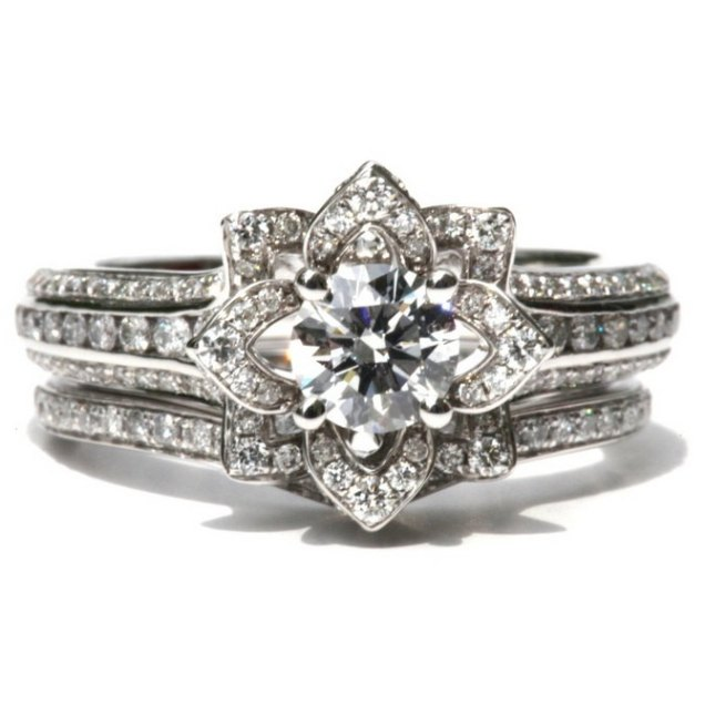 Flower Engagement Ring Sets – Rings Ideas
