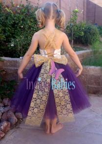 Flower Girl Dress, Weddings, Tutu Dress, Dark Purple, Plum Tutu
